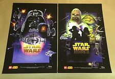 STARWARS CELEBRATION VII EXCLUSIVE LEGO POSTER SET OF TWO 2015 RARE 11X17 INCHES
