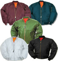 MA1 FLIGHT JACKET MOD SKIN BIKERS PILOT US AIRFORCE BOMBER ARMY COMBAT MILITARY