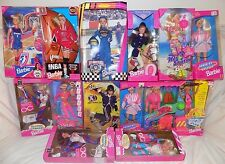 RARE, HUGE LOT OF **14** NRFB NEW ATHLETIC/ACTIVE BARBIE DOLLS - NEW IN BOXES