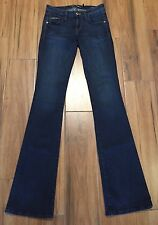 GUESS by Marciano 25 S XS Tall Long Antoinette Boot Low Rise Slim Fit Blue Jeans