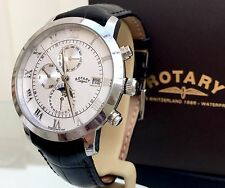 Rotary Moonphase Swiss Watch Men's Calendar Date RRP£350 Skeleton (R48