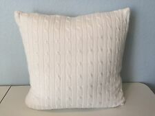Ralph Lauren Coral Beach Cable Knit Decorative Throw Pillow Cream