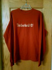 Timberland Weather Gear Embroidered Brand Logo Long Sleeve T=Shirt, Men's L