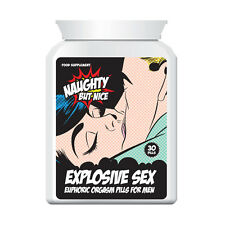 NAUGHTY BUT NICE EXPLOSIVE SEX EUPHORIC ORGASM PILLS FOR MEN – LIBIDO ENHANCE