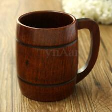 Handmade Wood Wooden Cup Barrel Drinking Beer Coffee Tea Souvenir Camping Mug