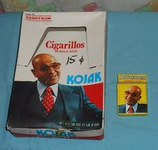 vintage Candygum KOJAK CIGARILLOS BUBBLE GUM store display box + empty pack