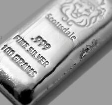 100~GRAM ~PURE .999 SILVER~ POURDED LOAF BAR ~3.21~OUNCES SILVER BULLION~ $85.88