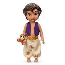 "NEW Disney Store Animator's Collection Alladin Doll 16"" with Clothes Pet Monkey"