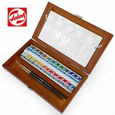 Royal Talens - Van Gogh Water Colour - Wooden Box of 24 Paints with Brush