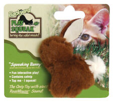 OURPETS PLAY N SQUEAK BACKYARD BUNNY W/ SOUND KITTEN CAT TOY FREE SHIP USA