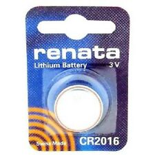 Renata Mercury Free 3V Lithium Coin Button Cell Battery CR 2016