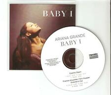 """ARIANA GRANDE  """"BABY I"""" / COSMIC DAWN - NEW 5 REMIX OFFICIAL CD PROMO"""