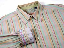 ROBERT GRAHAM - Men's XL - Nordstrom Dress & Casual Shirt - Perfect Cool Stripes