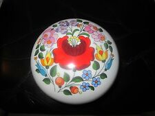 KALOCSA HAND PAINTED PORCELAIN DECORATED BEAUTIFUL  TRINKET BOX