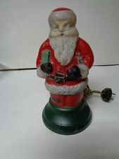 Very Early 1900's - Heavy Glass Santa Claus Lamp Light