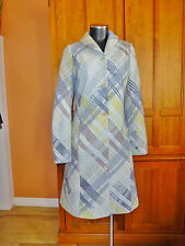 Sport MISSONI Pastel Plaid Check Knit WOOL Mohair Shawl Collar COAT JACKET 42