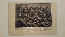 Morgan Park Academy & Denver Athletic Club 1900 Football Team Picture