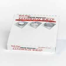 Dixie Quik Rap Non Dry Wax Paper Food Sandwich Deli Wrap 12 x 12 - 1000 Sheets