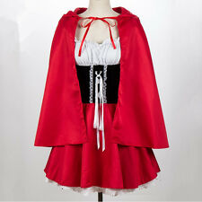 Fairy Tale Storybook Little Red Riding Hood Cosplay Costume Women Fancy Dress