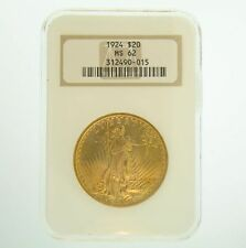 1924 $20 MS-62 NGC Gold Double Eagle Saint Gaudens Coin