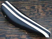 Black with White Stripes Banana Seat  Vintage Schwinn Stingray Krate Bike Saddle