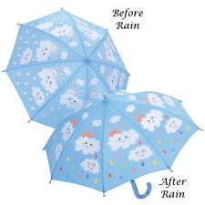 Floss & Rock Colour Changing Raindrops Kids Umbrella Manual Opening Girls Gift