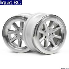 HPI Racing 3808 Vintage 8-Spoke Wheels 26mm Matte chrome 0mm Offset(2)