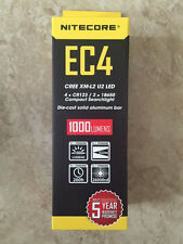 NEW NITECORE EC4 1000 LUMENS LED FLASHLIGHT W/BONUS BATTERY