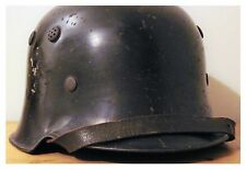 Rare Original WW2 German Helmet With Liner & Chinstrap WWII