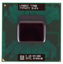 Intel Core 2 Duo T7800 slaf6 2,6 Ghz 4MB dual-core MOBILE CPU socket del processore P