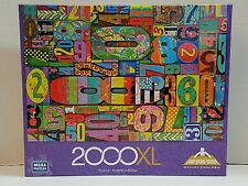 Family Toys  Hobby Vintage Numbers 2000XL Pieces Mega Puzzle Free Shipping