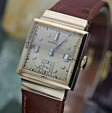 Circa 1942 LONGINES 8LN Hand Wind 17j Diamond Dial 14K Solid Rose Gold Watch