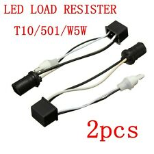 2x T10 W5W 501 LED Bulb Canbus Error Free Warning Canceller Load Resistors Wedge