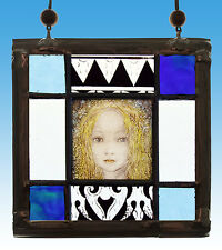 Starchild, stained glass, spiritual suncatcher, angel, spiritual stained glass