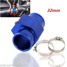 32mm Blue Car Water Temp Temperature Gauge Joint Pipe Sensor Hose Adapter New