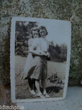 Vtg Photo 40's Snapshot Rock-a-Billy Teens Saddle Oxford Shoes Hug Hold Hands