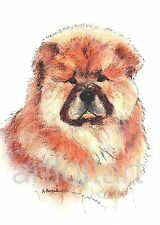 CHOW CHOW PUPPY DOG ACEO Card Print by A Borcuk