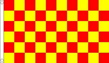 RED and YELLOW CHECK FLAG 5' x 3' Checkered Checked