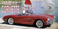 3ftx6ft CRUISE IN A CORVETTE HEAVY VINYL BANNER-HOT ROD-CHEVY-RAT FINK-CLASSIC