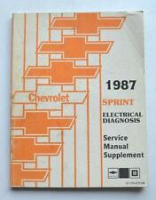 1987 CHEVROLET SPRINT DEALER SERVICE DEPARTMENT ELECTRICAL DIAGNOSIS SHOP MANUAL