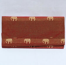 Thai Silk Ladies Wallet Elephant Design Brand New! Many Colours