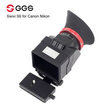 "GGS Swivi S6 Viewfinder with 3""/3.2"" LCD Screen for Canon 5D2 5D3 6D 7D 70D 750D"