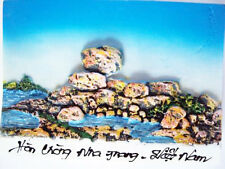 Hand Carved Sculpture Carving Stone Painted picture- Nha Trang Beach Wall Decor