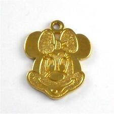 Sterling Silver Gold Vermeil Disney Minnie Mouse Charm