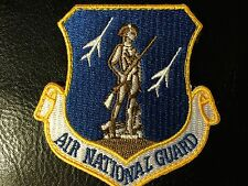 "U.S.A.F. AIR NATIONAL GUARD PATCH, 3"" SIZE, HOOK & LOOP BACK"
