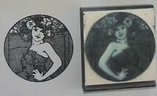 Art Deco Girl Claire rubber stamp perfect for ATCs!