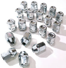 20 x alloy wheel closed nuts lugs bolts M12x1.25, 19mm Hex, Tapered Seat - Alfa