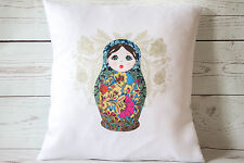 """Russian doll blue - 16"""" cushion cover French shabby vintage chic - UK handmade"""