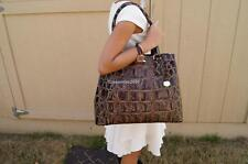 ❤️ NEW Brahmin Joan Tote Espresso Orinoco Genuine Leather Croc Embossed ❤️ SEE