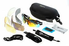 RockBros Polarized Bike Cycling Glasses UV400 Walk Run Ride Sunglasses 5Lens